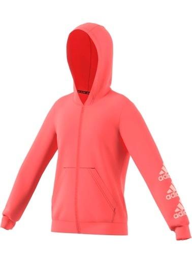 adidas Kız Çocuk Must Haves Logo Full Sweatshirt GE0942 Pembe